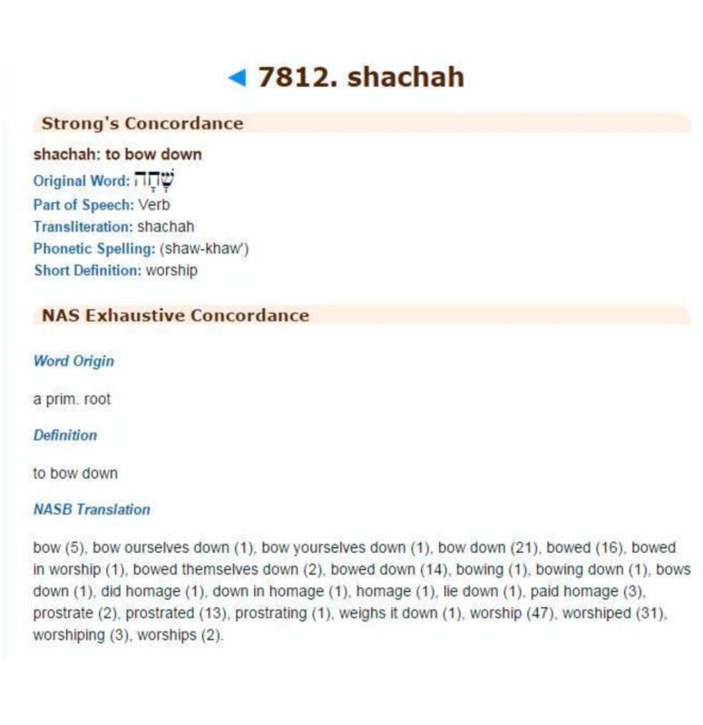 7812 shachah worship