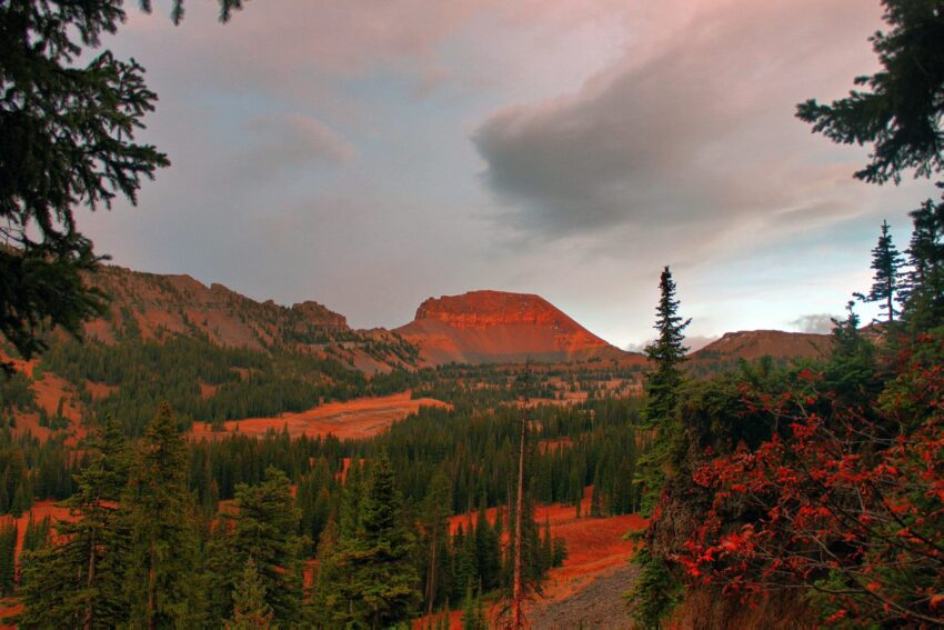 Fossil Mountain, Wyoming sunset in Grand Teton National Park