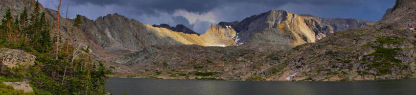 Birthday Lakes, Wyoming also called Pouch Lakes