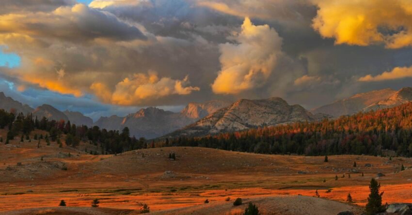 Fish Creek Park, Wyoming, at sunset.