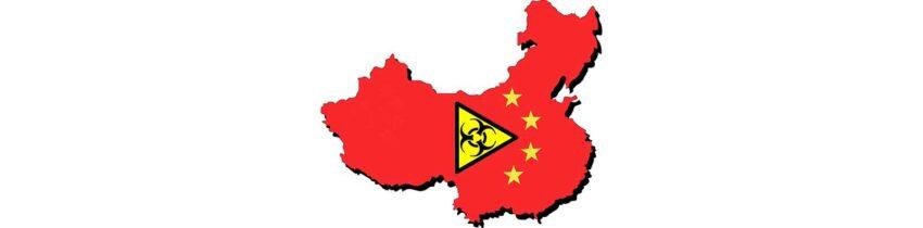 china coronavirus map stylized virus
