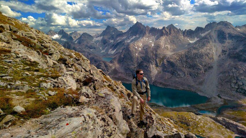 Titcomb Basin from Fremont Peak, Wyoming