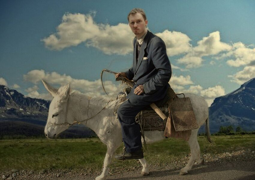 lucas necessary riding a donkey in wyoming