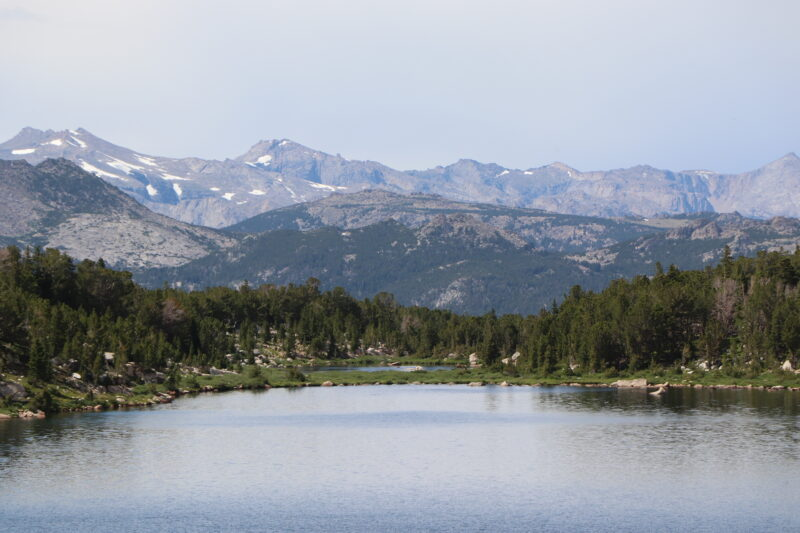 Stough Creek Basin Overview Lake 10,550 with Wind River Peak