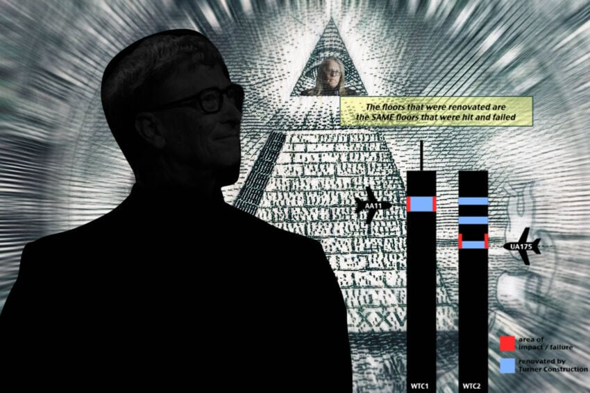 conspiracy theory plandemic bill gates world trade center