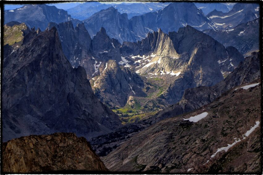 cirque of the towers from wind river peak wyoming wind river range