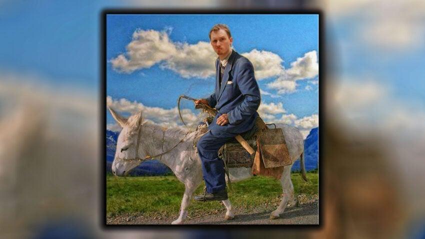 me on a donkey