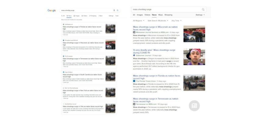 narrative building in corporate news media press