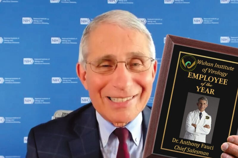 Dr. Anthony Fauci Employee of the Year Award from Wuhan Lab